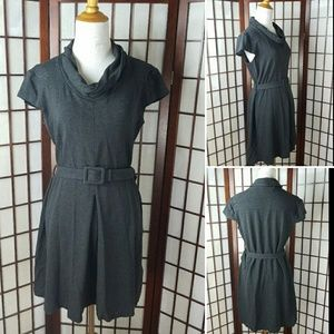 Banana Republic Belted Cowl Neck Stretch Dress